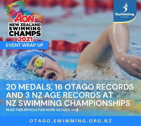 20 Medals and Records Galore for Otago at NZ Swimming Champs