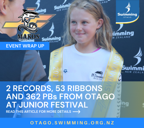 2 Otago Records, 53 Ribbons and 362 PBs from Otago Athletes at Makos Junior Festival
