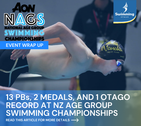13 PBs, 2 Medals, and 1 Otago Record for Otago at NZ Age Group Swimming Champs